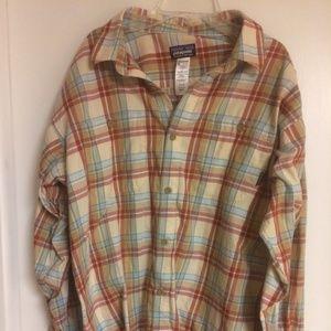 Mens Plaid Patagonia Organic Cotton Shirt